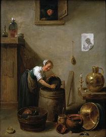 D.Teniers d.J., Jg.Maedchen beim Abwasch von AKG  Images