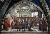 Ghirlandaio, Franziskus vor Honorius III von AKG  Images