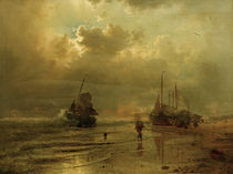A.Achenbach, An der Nordsee by AKG  Images