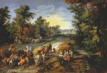Jan Brueghel d.Ae., Landstrasse by AKG  Images