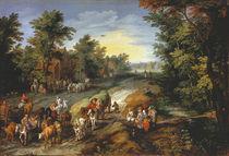 Jan Brueghel d.Ae., Landstrasse von AKG  Images