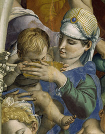 A.Bronzino, Moses schlaegt Wasser, Detail by AKG  Images