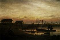 C.D.Friedrich/Kuestenlandsch. Abend 1815 by AKG  Images