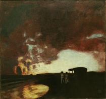 Franz Stuck, Sonnenuntergang am Meer von AKG  Images