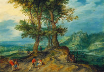 J.Brueghel d.Ae., Weg zum Markt von AKG  Images