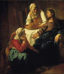 Vermeer, Christus bei Maria und Martha by AKG  Images