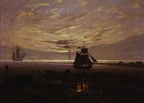 C.D.Friedrich, Abend am Ostseestrand1831 by AKG  Images