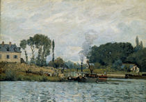 A.Sisley, Schiffe an Schleuse Bougival von AKG  Images