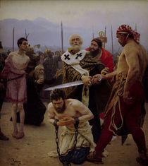 Ilja Repin, Nikolaus rettet Verurteilte by AKG  Images