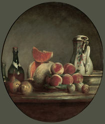 J.B.S.Chardin, Angeschnittene Melone by AKG  Images