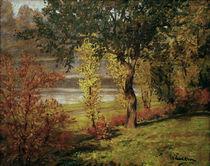 W.Leistikow, Ufer mit Baeumen und Bueschen von AKG  Images