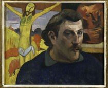 Paul Gauguin, Selbstbildnis mit Christus by AKG  Images