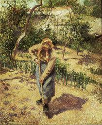 Camille Pissarro, Baeuerin bei Gartenarb. von AKG  Images
