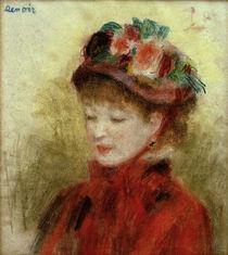 A.Renoir, Junge Frau mit Blumenhut by AKG  Images