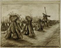 Van Gogh, Kornbuendel und Windmuehle von AKG  Images