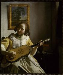 Vermeer van Delft/ Gitarrespielerin von AKG  Images