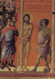 Duccio, Geisselung, Ausschnitt by AKG  Images