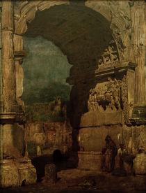 F.v.Lenbach, Der Titusbogen in Rom by AKG  Images