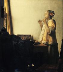 Vermeer, Junge Dame mit Perlenhalsband by AKG  Images