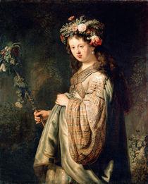Rembrandt, Saskia als Flora von AKG  Images