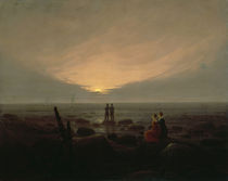 C.D.Friedrich, Mondaufgang am Meer by AKG  Images