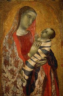 Ambrogio Lorenzetti, Maria mit Kind von AKG  Images