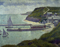 G.Seurat, Port en  Bessin, avant port by AKG  Images