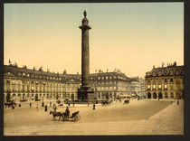 Paris, Place Vendome / Photochrom von AKG  Images