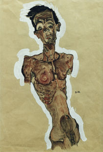 Egon Schiele, Selbstakt 1910 von AKG  Images