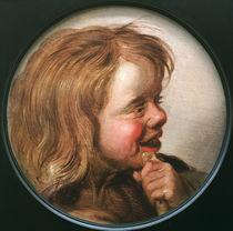 Hals Umkreis, Lachendes Kind mit Floete von AKG  Images