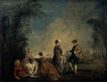A.Watteau, Der verwirrende Antrag by AKG  Images