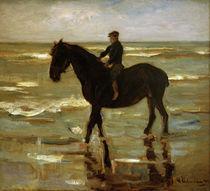 M.Liebermann, Reitender Junge am Strande by AKG  Images