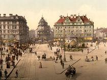 Muenchen, Karlsplatz / Photochrom von AKG  Images