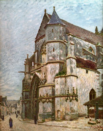 A.Sisley/ Kirche in Moret im Winter/1894 by AKG  Images