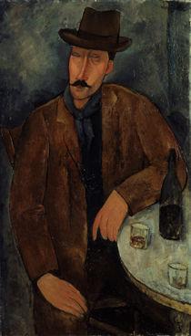 A.Modigliani, Mann mit Weinglas von AKG  Images