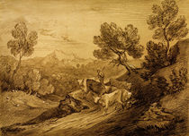 Th.Gainsborough, Waldige Berggegend von AKG  Images