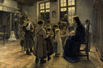 Fritz von Uhde, Lasset die Kindlein... by AKG  Images