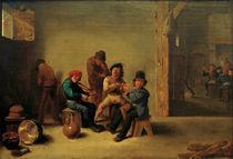 D.Teniers d.J., Zechende u. rauchende... by AKG  Images