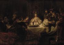 Rembrandt, Simsons Hochzeit von AKG  Images