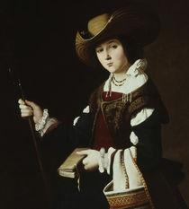 F.de Zurbaran, Hl.Margarete / 1635-1640 by AKG  Images