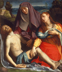 A.Bronzino, Toter Christus mit Maria... by AKG  Images
