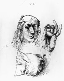 Albrecht Duerer, Selbstbildnis um 1490 von AKG  Images