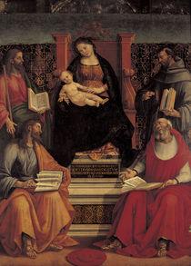 L.Signorelli, Maria mit Kind u.Heiligen by AKG  Images