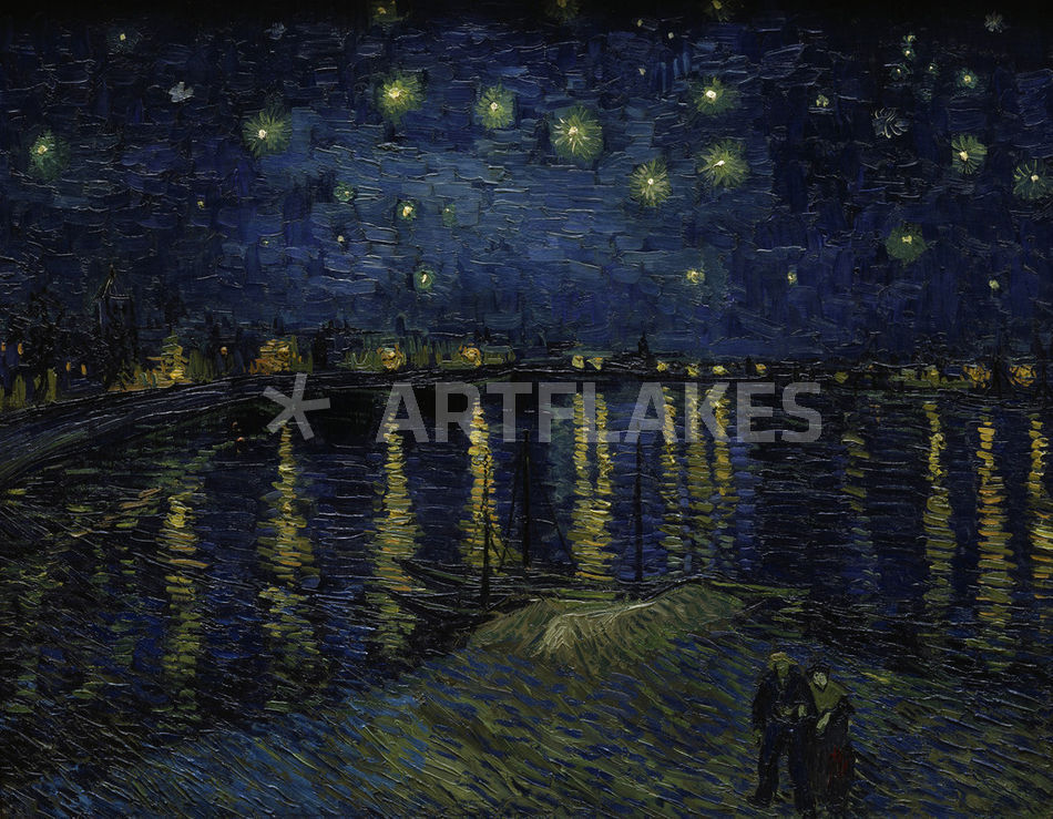 van gogh sternennacht ueber der rhone picture art prints and posters by akg images. Black Bedroom Furniture Sets. Home Design Ideas