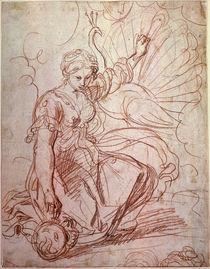 Guercino/ Juno schmueckt die Pfaue/ 17.Jh von AKG  Images