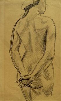 A.Macke, Weiblicher Akt 53 / Zeichnung von AKG  Images