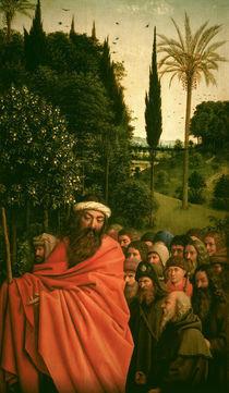 'Die Pilger' (Det.)/v.Eyck, Genter Altar von AKG  Images