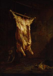 Rembrandt, Geschlachteter Ochse von AKG  Images