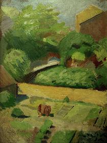 A. Macke, Blick in den Nachbargarten von AKG  Images