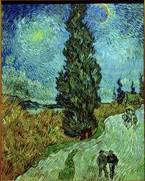 Van Gogh, Zypresse gegen Sternenhimmel by AKG  Images